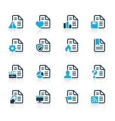 Documents Icons 2 Azure Series vector image vector image