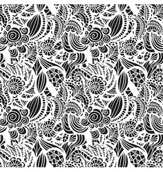 Hand-drawn seamless pattern vector image vector image