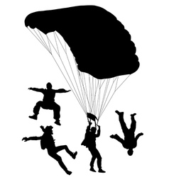 Skydiving Silhouette vector image vector image
