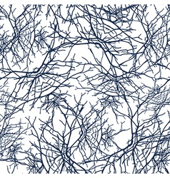 Texture branches seamless pattern vector image vector image