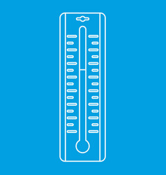 thermometer icon outline style vector image vector image