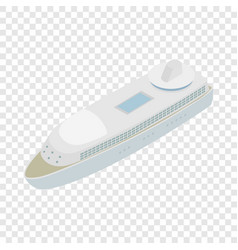 yacht isometric icon vector image