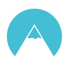 blue mountain cartoon vector image vector image
