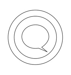 figure symbol with chat bubble icon vector image