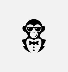 monkey logo vector image vector image
