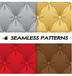set of seamless patterns with soft upholstery vector image vector image