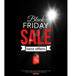 Black friday sale shining typographical background vector image