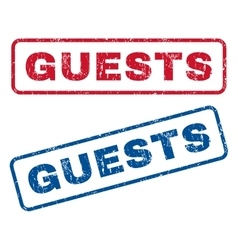 Guests Rubber Stamps vector image vector image