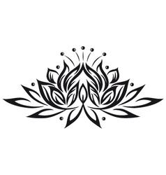 lotus flower design element vector image vector image