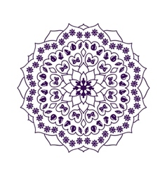 Mandala with Christmas elements vector image