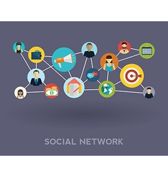 Social media network Growth background with lines vector image vector image