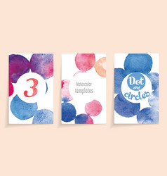 watercolor template vector image vector image
