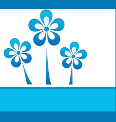 a card with blue flowers vector image