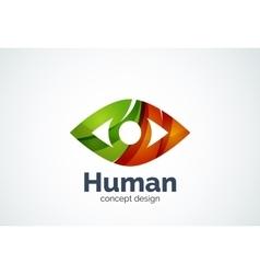 Abstract business company human eye logo template vector image