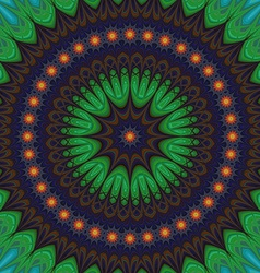 Abstract geometric oriental fractal mandala vector
