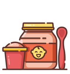 Baby food linecolor vector