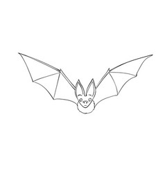 Bat is a nocturnal animal a symbol halloween vector
