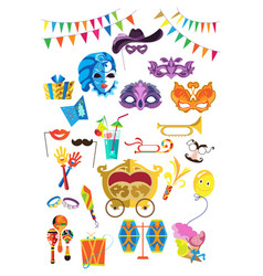 beautiful decorative masks decorations gifts vector image
