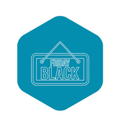 black friday signboard icon outline style vector image