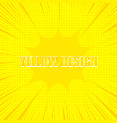 comic yellow design concept vector image