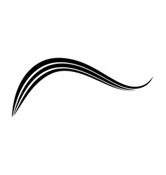 Curved three stripes calligraphy element vector