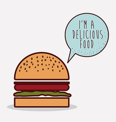 delicious fast food design vector image