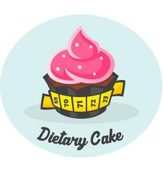 Dietary sweet cake vector