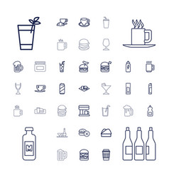 Drink icons vector