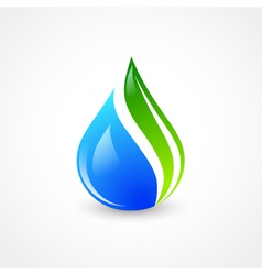 Eco Water Drop vector image