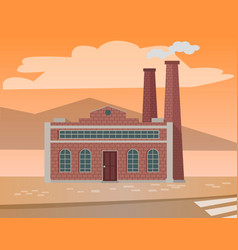 factories and enterprises industry manufacturing vector image