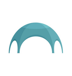 Festive tent icon flat style vector