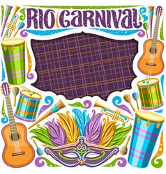 frame for rio carnival vector image