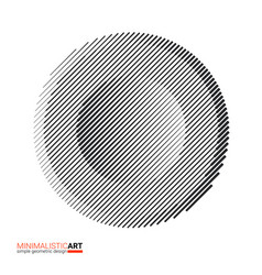 halftone modern minimalistic geometric design for vector image