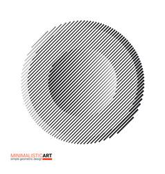 halftone modern minimalistic geometric design vector image