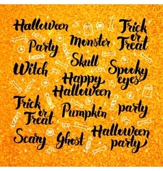 Halloween Gold Lettering Design vector