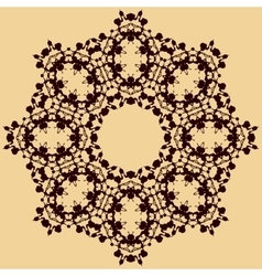 Handmade mandala of water stains ink blobs vector