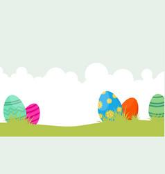 Happy easter egg on landscape vector