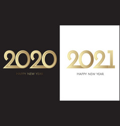 Happy new year 2019 text design brochure design vector