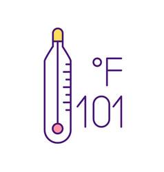 High body temperature rgb color icon vector