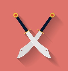 icon ancient swords flat style vector image