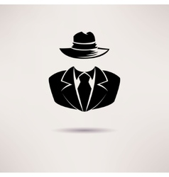 Icon spy secret agent the mafia icon vector image