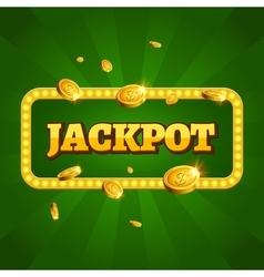 Jackpot casino label background sign Casino vector