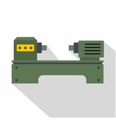 lathe machine icon flat style vector image
