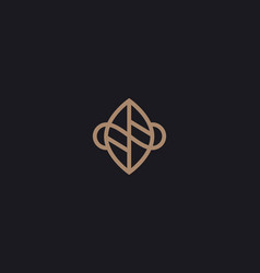Leaf logo design abstract modern minimal style vector