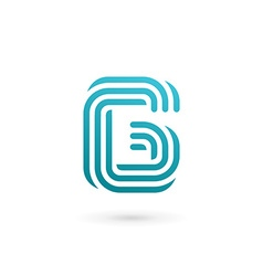 Letter G number 6 logo icon design template vector image
