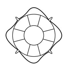 Life buoy marine symbol thin line vector