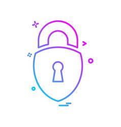locked icon design vector image