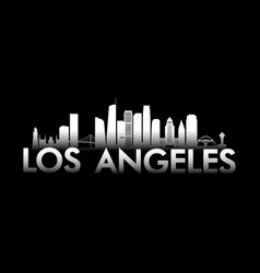 los angeles city white skyline vector image