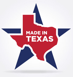made in texas logo 04 vector image