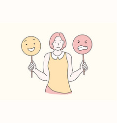 Manage emotions training mood concept vector
